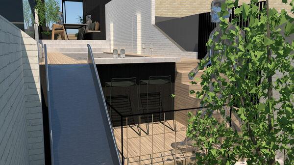 Simulatie 3D tuinontwerp LV